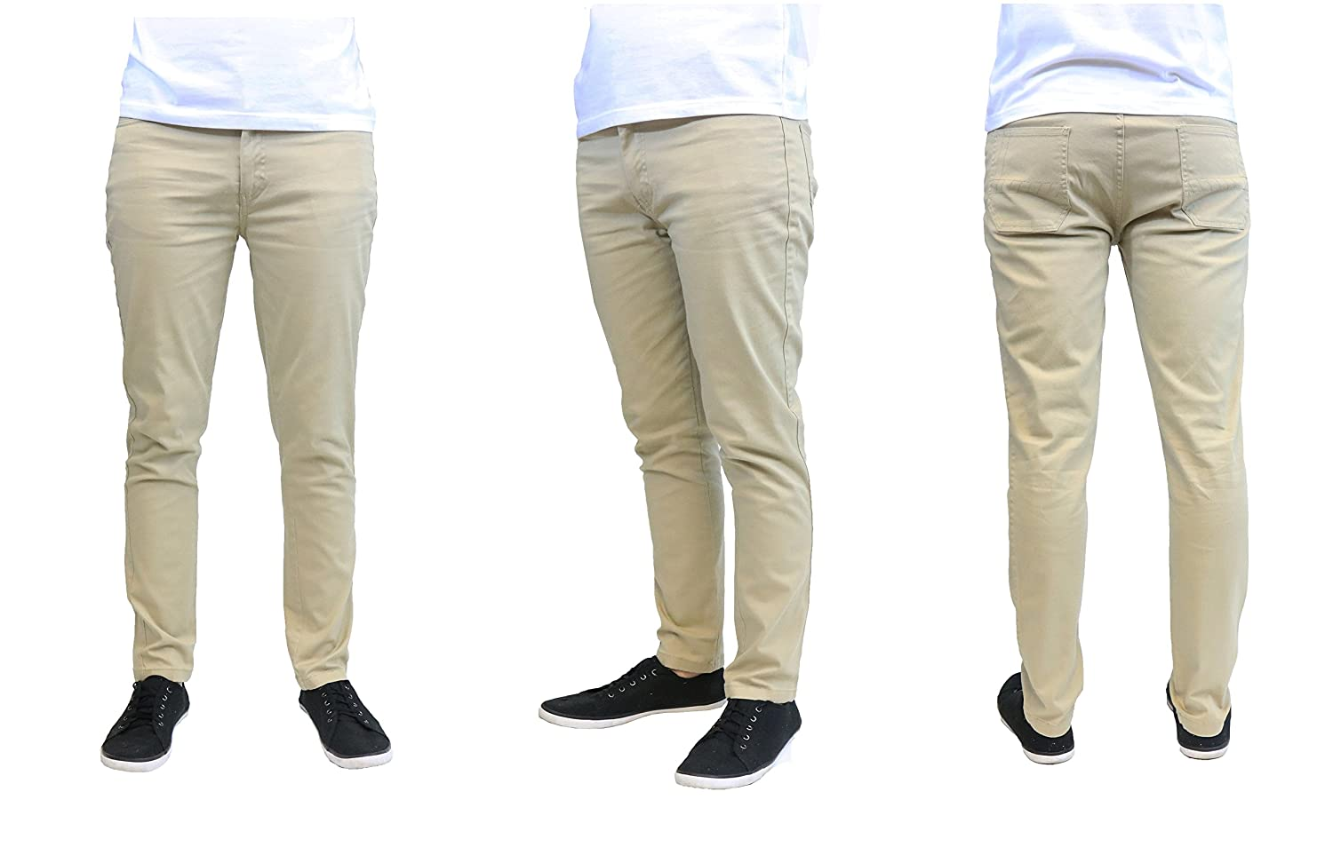 0434bbea Galaxy by Harvic Slim Fit Men's Stretch Chino Pants