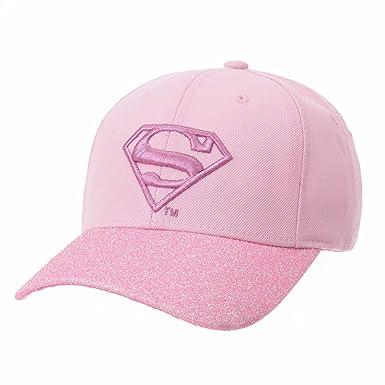 WITHMOONS Superman VS Batman Shield Glittering Brim Baseball Cap AC1832 ( Pink) a9679a498e76