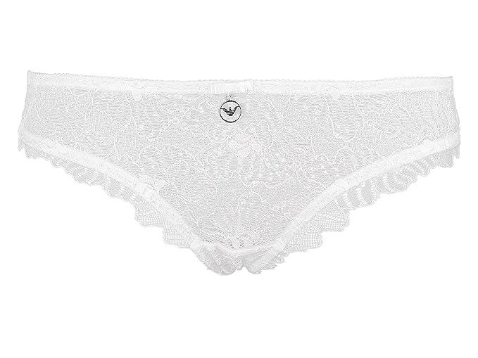 Emporio Armani 162948CC204, Slip para Mujer, Blanco (Bianco) 36 (Talla del