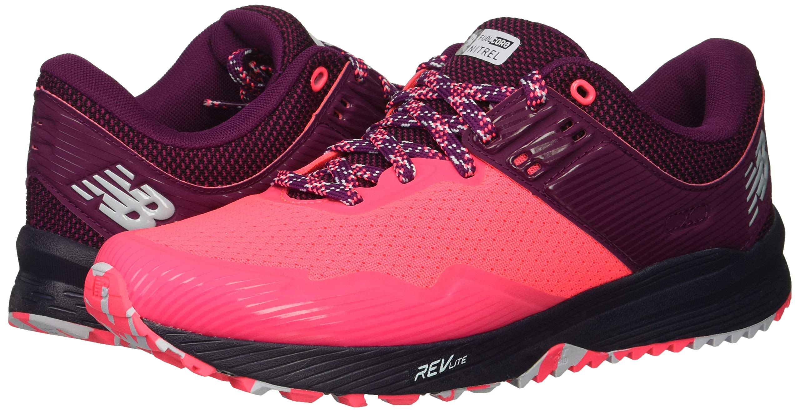 New Balance Women's Nitrel V2 FuelCore Trail Running Shoe Pink zing/Claret/Pigment 5 B US by New Balance (Image #6)