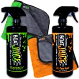 Boat Juice Cleaner Kit - 32oz Exterior Cleaner - Ceramic SiO2 Sealant - Water Spot Remover & 32oz Interior Boat Vinyl Cleaner