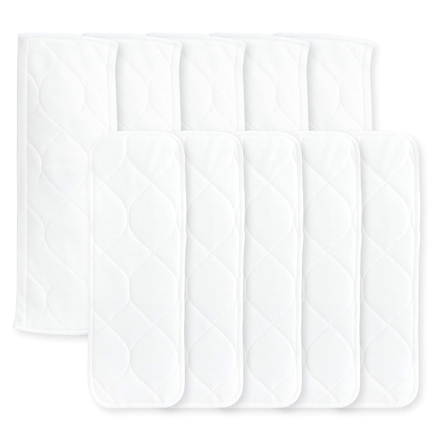 5 Bi-fold Inserts and 5 Boosters Amazing Baby Reusable Inserts for SmartNappy Hybrid Diaper Cover Set of 10 Newborn 5-10 lbs Size 1
