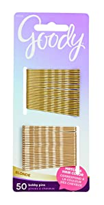 Goody Hair Bobby Pins, Blonde, 50-count (1942456), Metallic Blonde