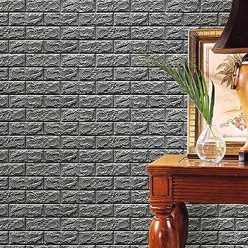 Aufkleber,Resplend Neue PE Schaum 3D Wallpaper Dekorativ Tapete ...