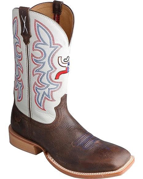cade750460a Twisted X Mens Hooey Sq Toe BRN/Wht Boots