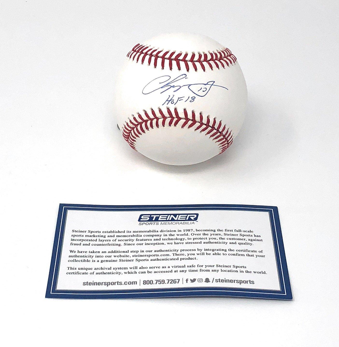 Chipper Jones Atlanta Braves Signed Autograph Official MLB Baseball HOF Inscribed Steiner Sports Certified