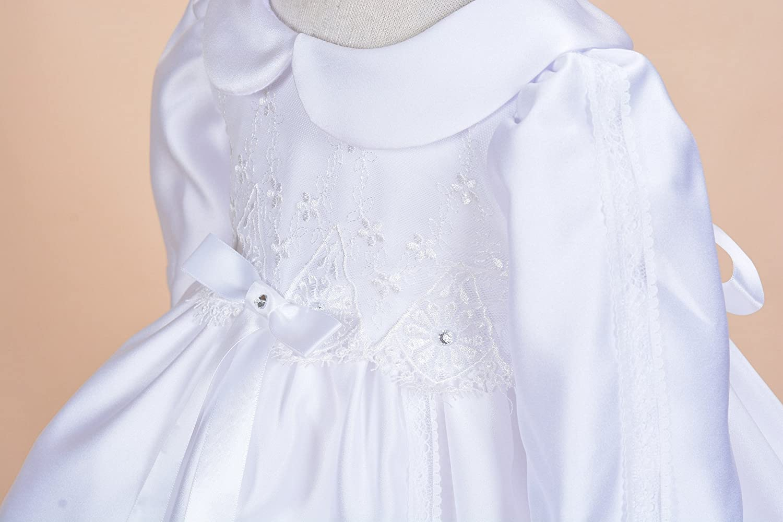 Cinda Satin Christening Party Dress+Headband