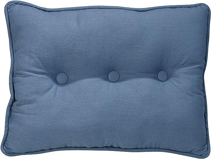 18 x 18 Black /& Tan Windowpane HiEnd Accents Ashbury Woven Tweed Tufted Throw Pillow