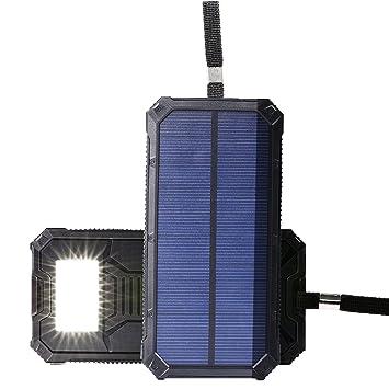 NEXGADGET Cargador Portátil Solar 15000mAh 2 Puertos USB Batería Externa (Naranja y Negaro)  (