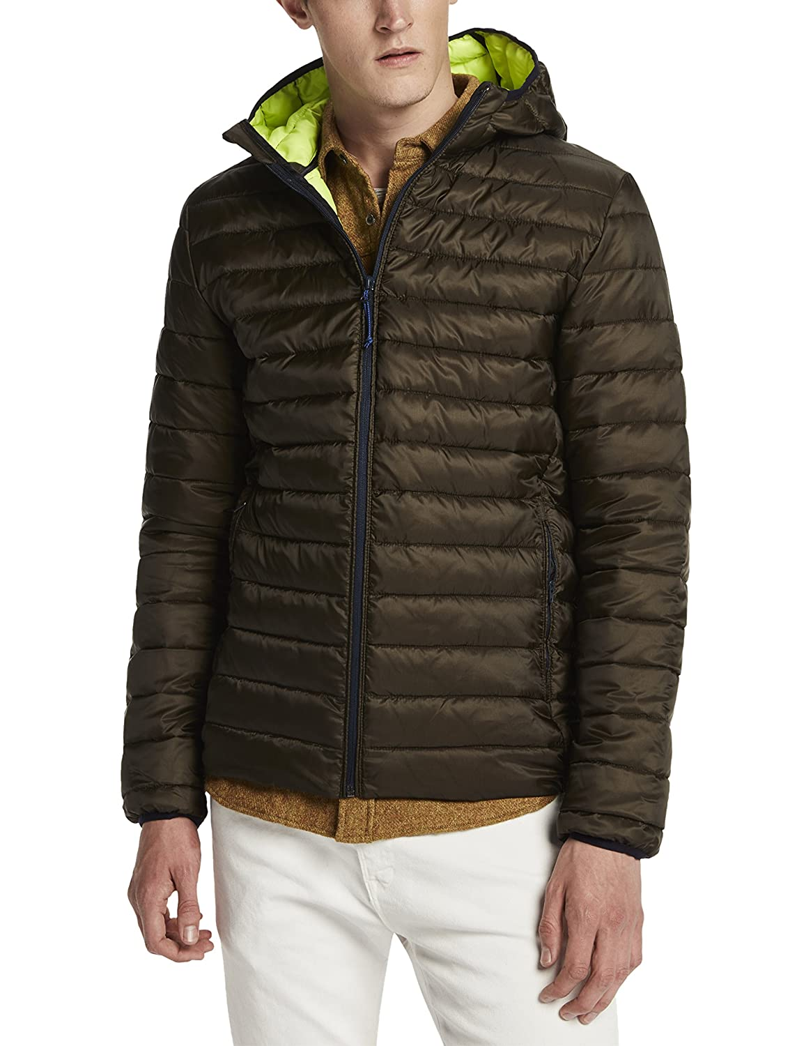 Scotch & Soda Herren Kapuzenpullover Classic Quilted Hooded Jacket in Nylon Quality