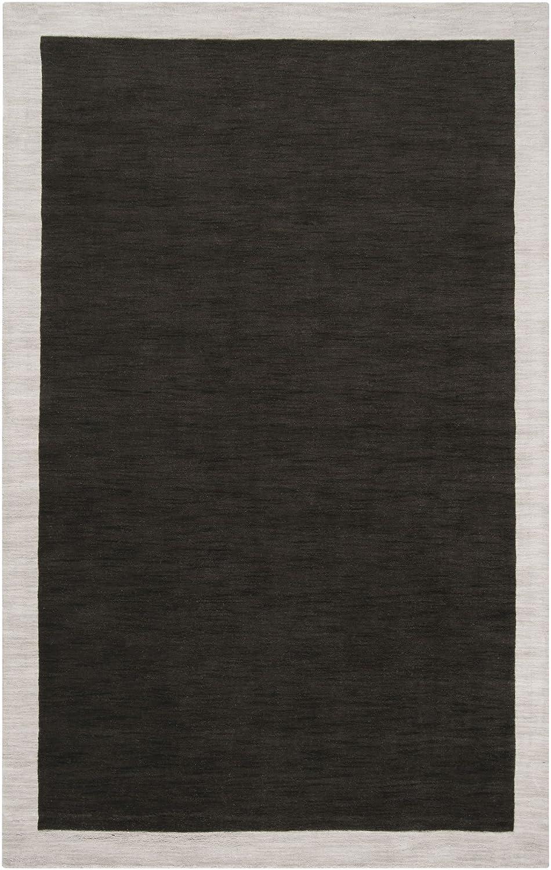 Surya MDS-1004 Madison Square Coal Black 2-Feet by 3-Feet Area Rug