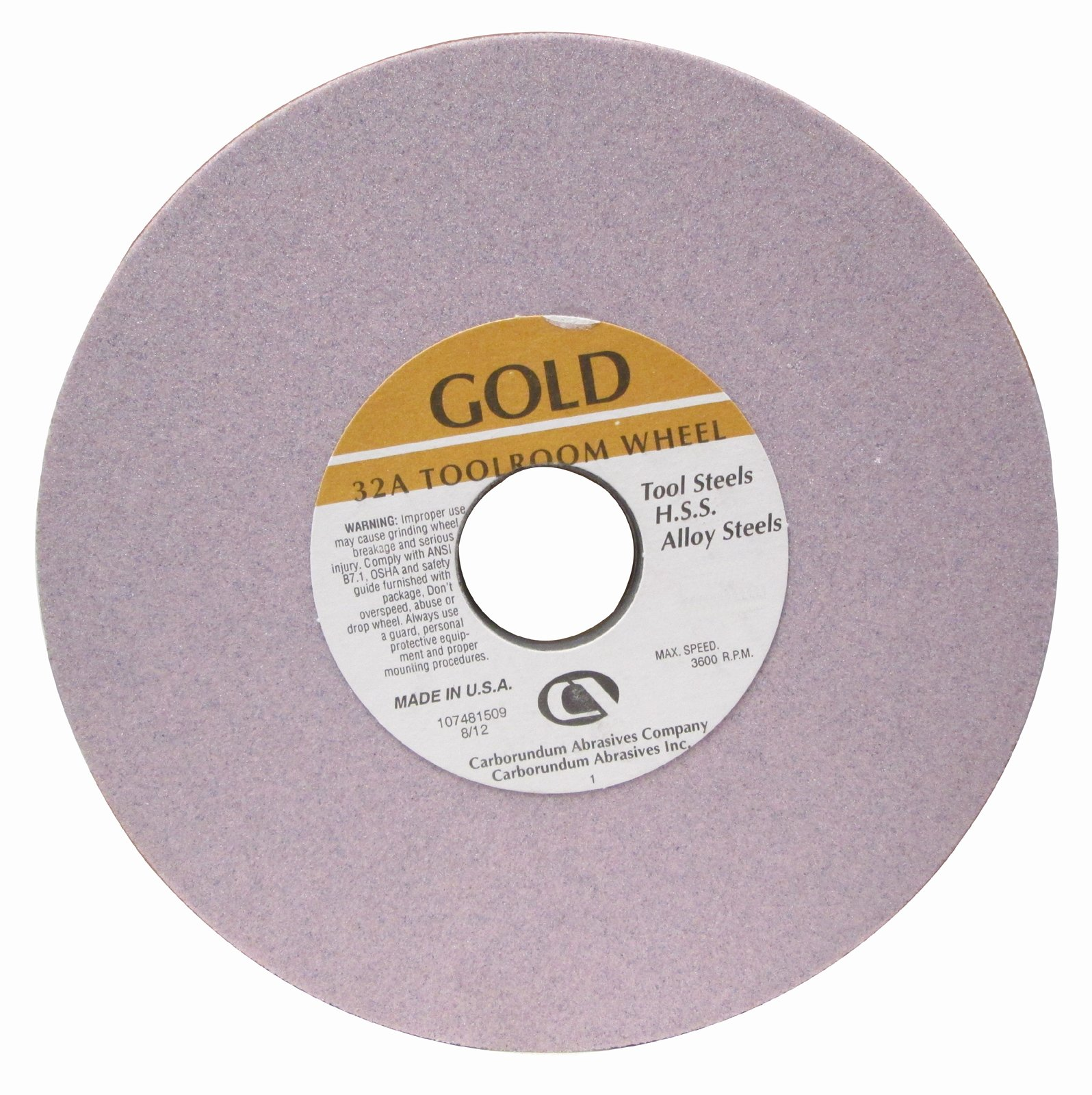 United Abrasives-SAIT 28141 10 by 1 by 1-1//4 GC80 Bench Grinding Wheel Vitrified 1-Pack