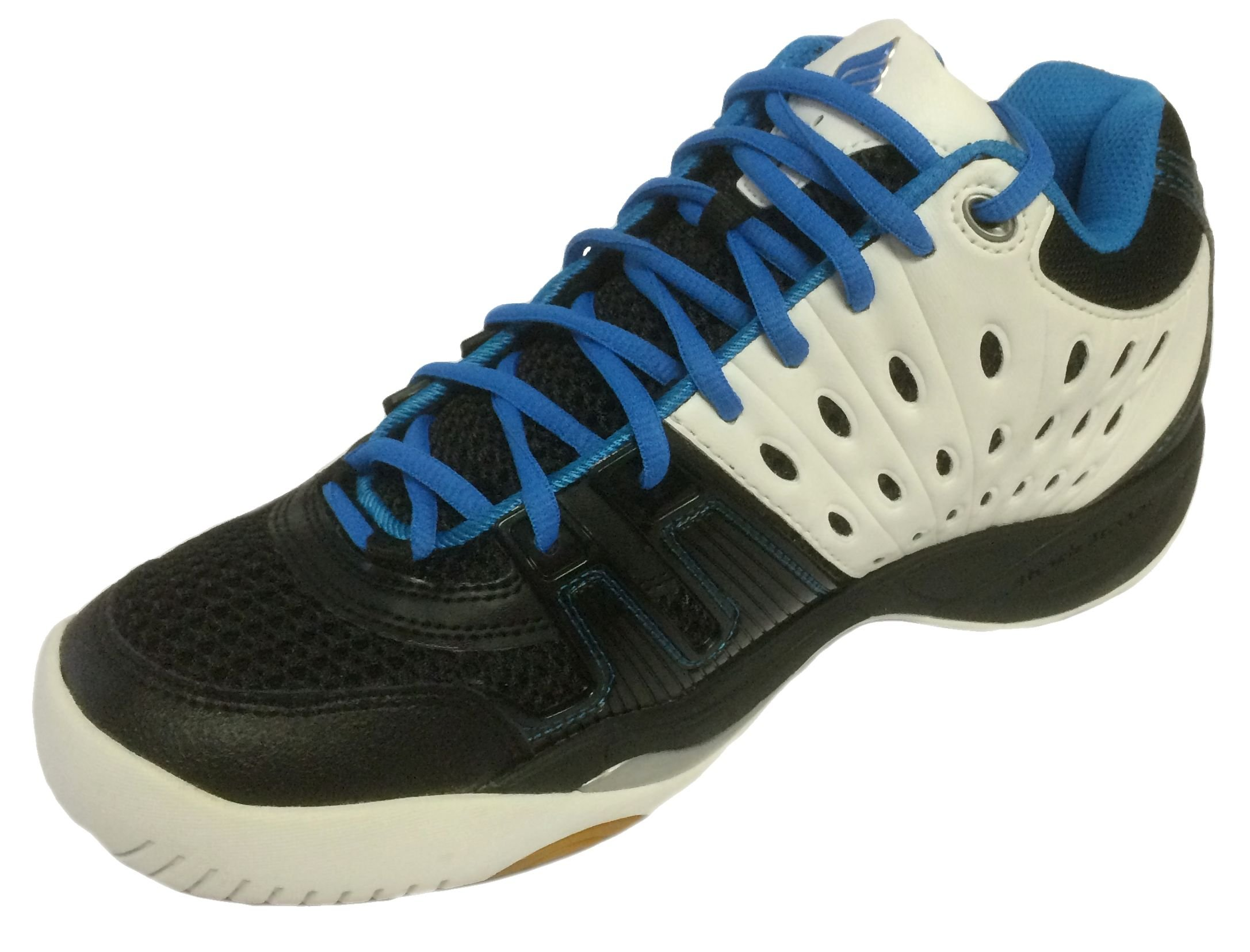 Ektelon Men's T22 Mid White/Black/Energy Blue Synthethic Racquetball Shoes 11 D(M) US by Ektelon (Image #1)