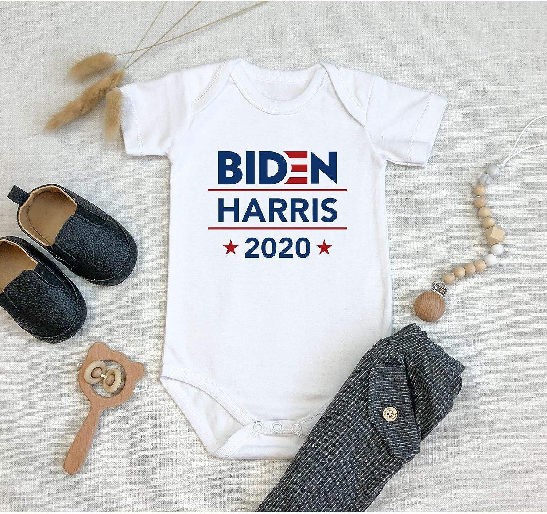 Lsjuee Joe Biden Kamala Harris 2020 Long Sleeve Babys Romper All Cotton Unisex Bodysuit Jumpsuit