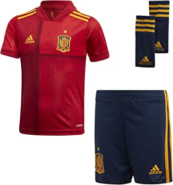 adidas Unisex Spain Home Minikit Football Jersey, Red(Victory Red)