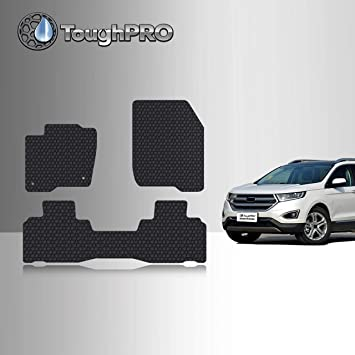 2016 2017 Passenger /& Rear Floor Mats GGBAILEY Ford Edge 2015 2019 Grey Loop Driver 2018
