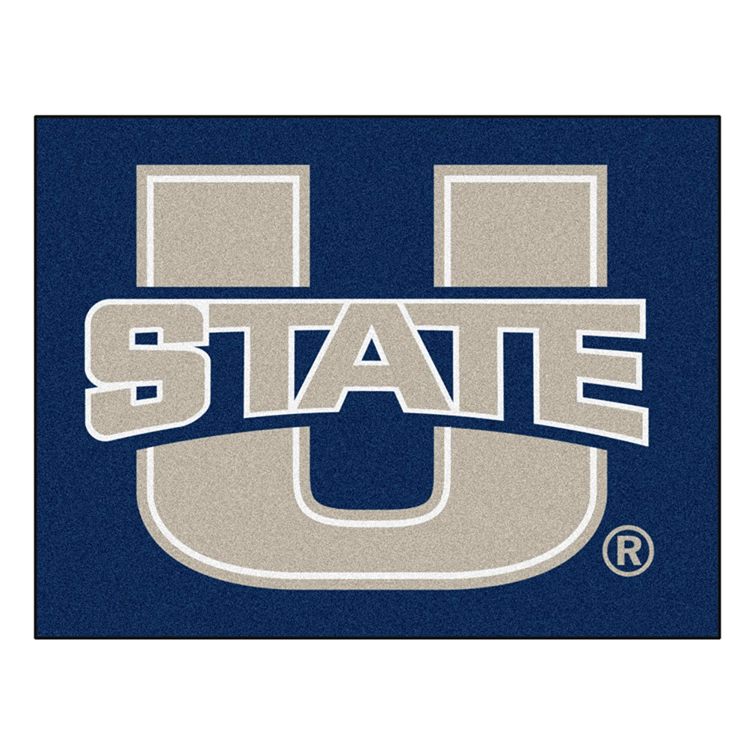 FANMATS NCAA Utah State University Aggies Nylon Face Football Rug 2532