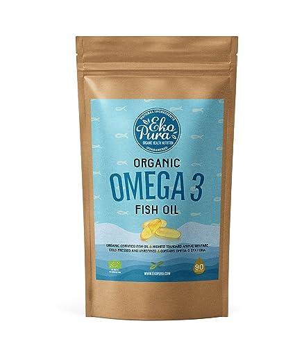 Omega 3 Orgánico - Aceite de pescado (90 Cápsulas)