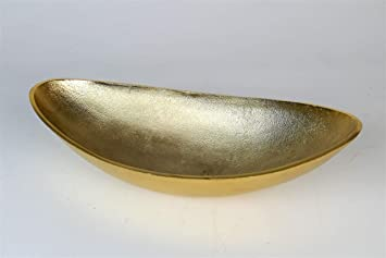 Artra Aluminium Schale Lisa Grosse L In Gold Oval