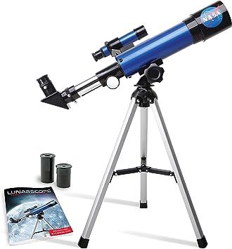 Discover with Dr. Cool Telescopio Lunar NASA para niños astrónomo Joven, Viene con un trípode de Mesa, buscador y guía de Aprendizaje a Todo Color: Amazon.es: Juguetes y juegos