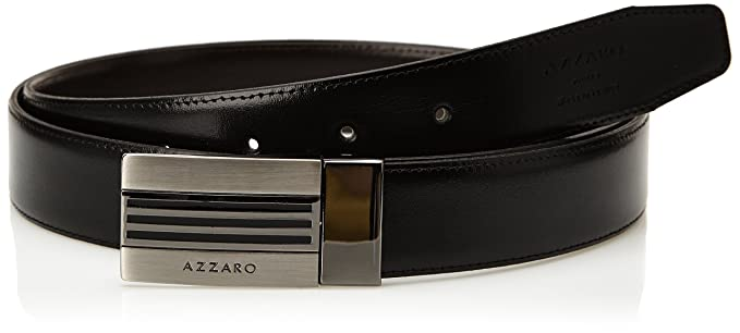 Azzaro 1321341 - Ceinture - Uni - Homme - Noir (Noir Marron) - FR  3 ... d70bb5d5a21