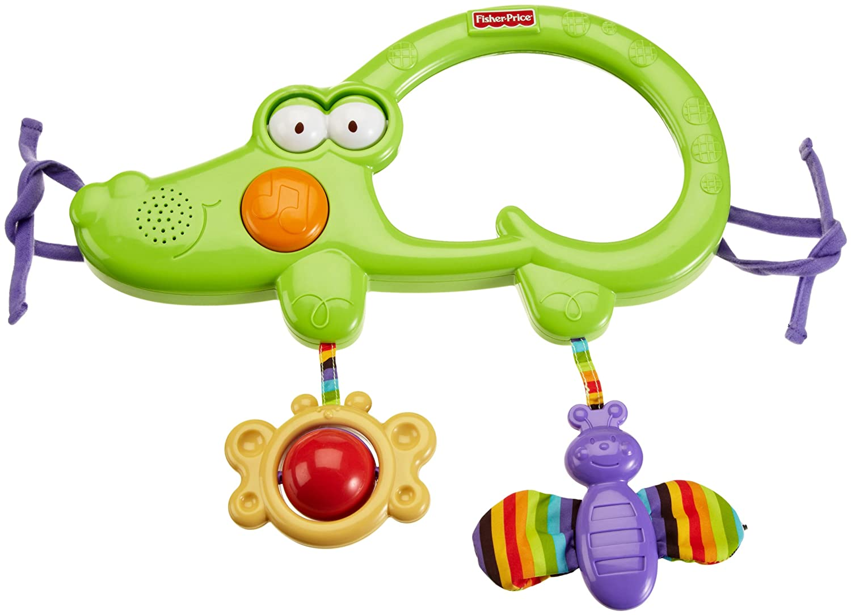 Fisher-Price Baby-Zoo - Espejo musical con sonajeros (Mattel ...