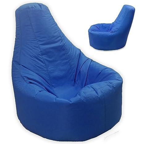 Gamer sillón reclinable y puf de tamaño grande para exteriores e interiores para videojuegos para XXL azul - asiento de silla puf (agua y resistente a ...