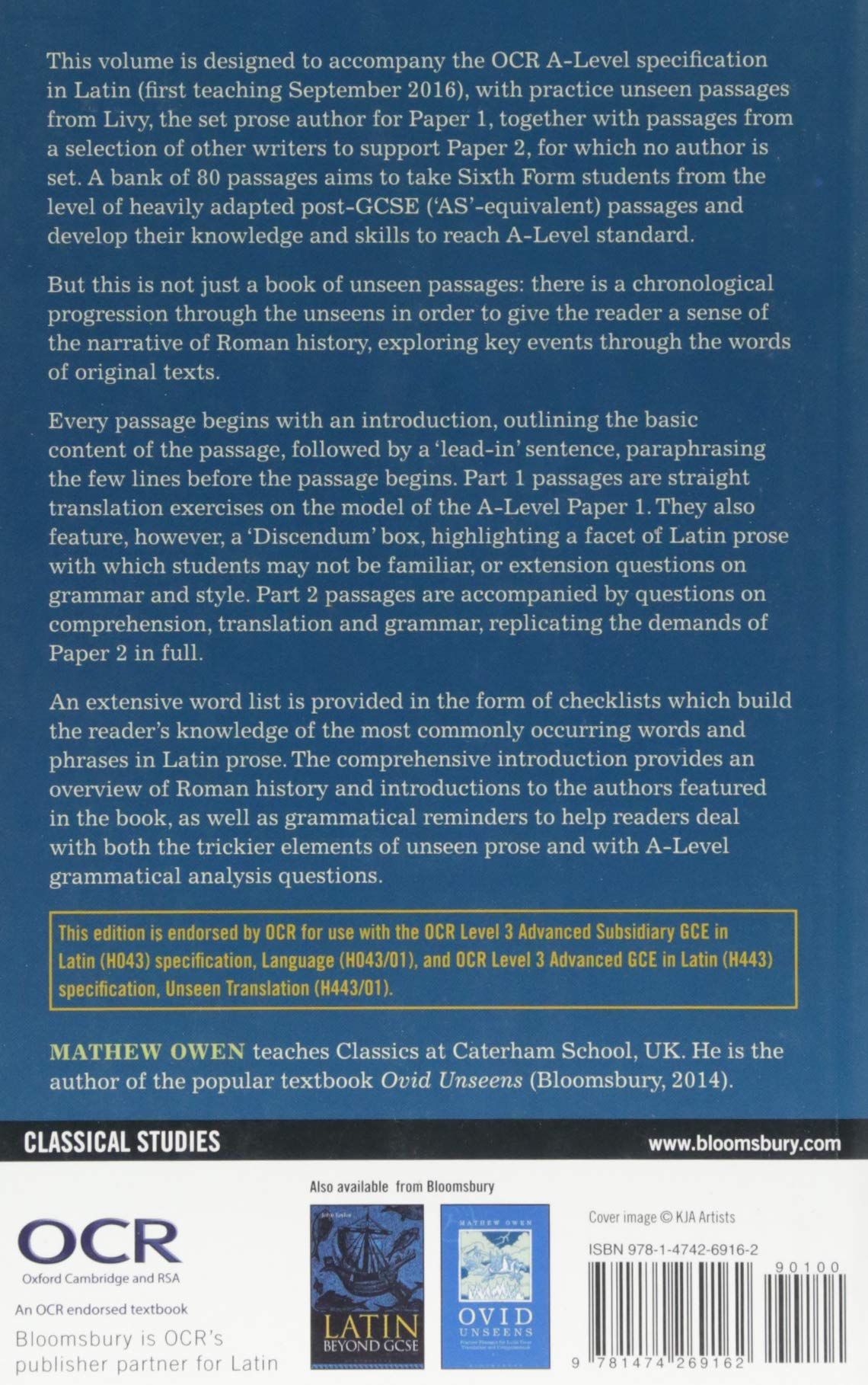 Prose Unseens for A-Level Latin (Latin Language Learning