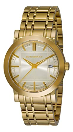burberry gold mens watch