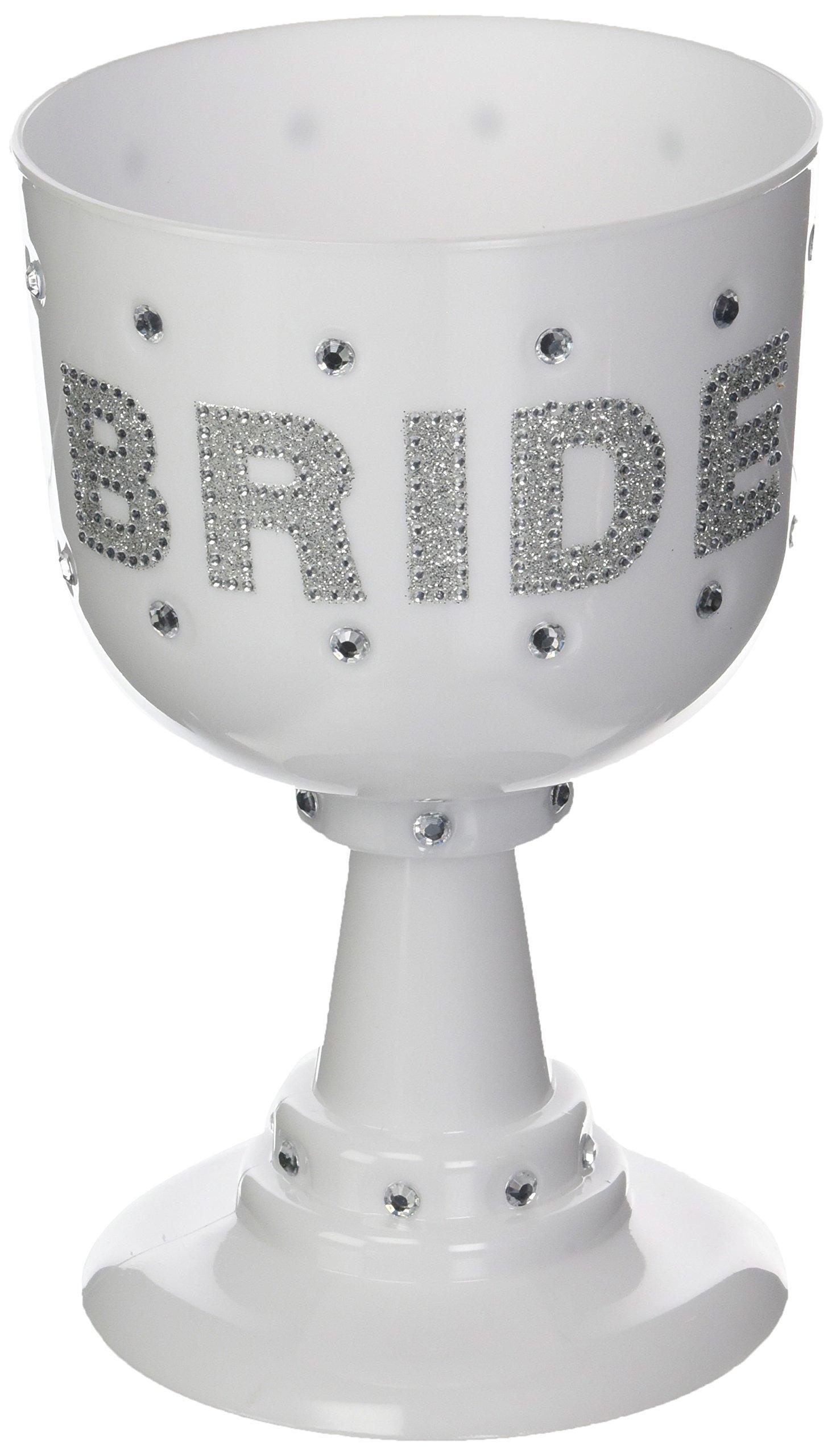 Forum Novelties Plastic White Goblet-Bride