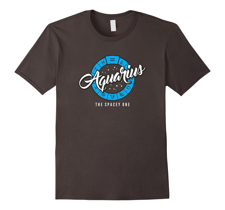 Aquarius The Spacey One Sun Sign T-Shirt-BN