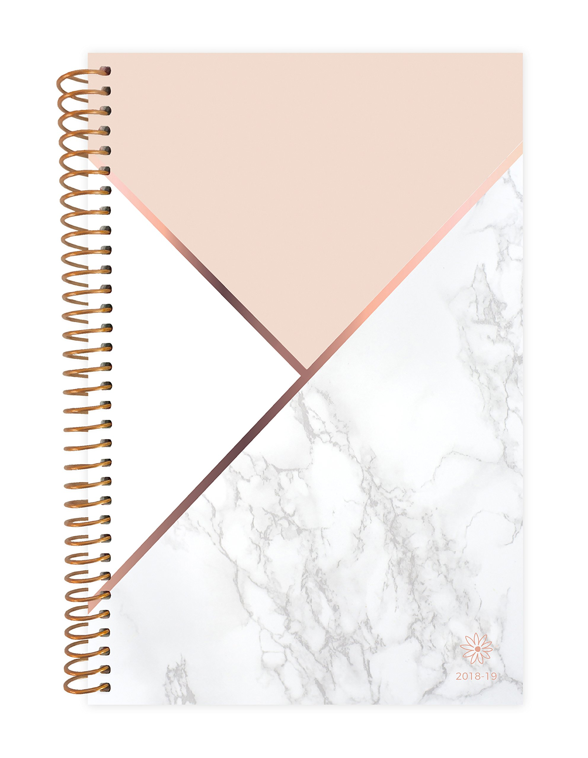 Bloom Daily Planners 2018-2019 Academic Year Day Planner - Monthly and Weekly Calendar Book - Inspirational Dated Agenda Organizer (August 2018 - July 2019)- 6'' x 8.25'' - Color Blocking Marble