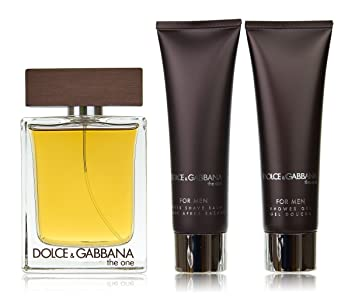 Dolce and Gabbana The One for Men-3 Pc Gift Set 3.3-Ounce EDT Spray,  1.6-Ounce After Shave Balm, 1.6-Ounce Shower Gel  Amazon.ca  Beauty f211a2fe82bb