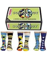 United Oddsocks Sockology - 6 Oddsocks for Men UK 6-11 EU 39 - 46