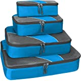 G4Free Packing Cubes Value Set for Travel,Luggage Organiser -4 pcs (B-Blue)