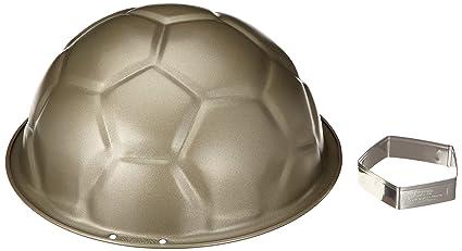 Staedter 614048 - Molde antiadherente con forma de pelota de fútbol para tartas y flanes