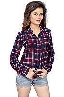 Binny Creation Women's Art Crepe Shirt (BT1002-CH-15)