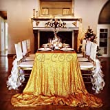 """B-COOL 60""""X102"""" Gold sequin tablecloth Shinny tablecloth Ceremony"""