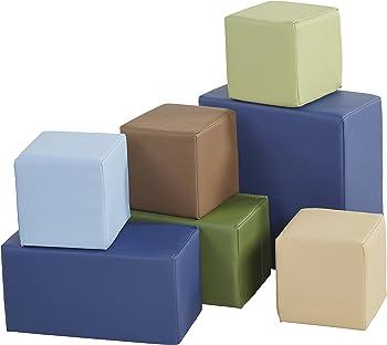 ECR4Kids Softzone Foam Big 7-Pc. Building Blocks
