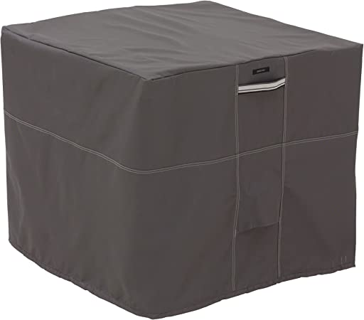 Amazon Com Classic Accessories Ravenna Water Resistant 34 Inch Square Air Conditioner Cover Garden Outdoor