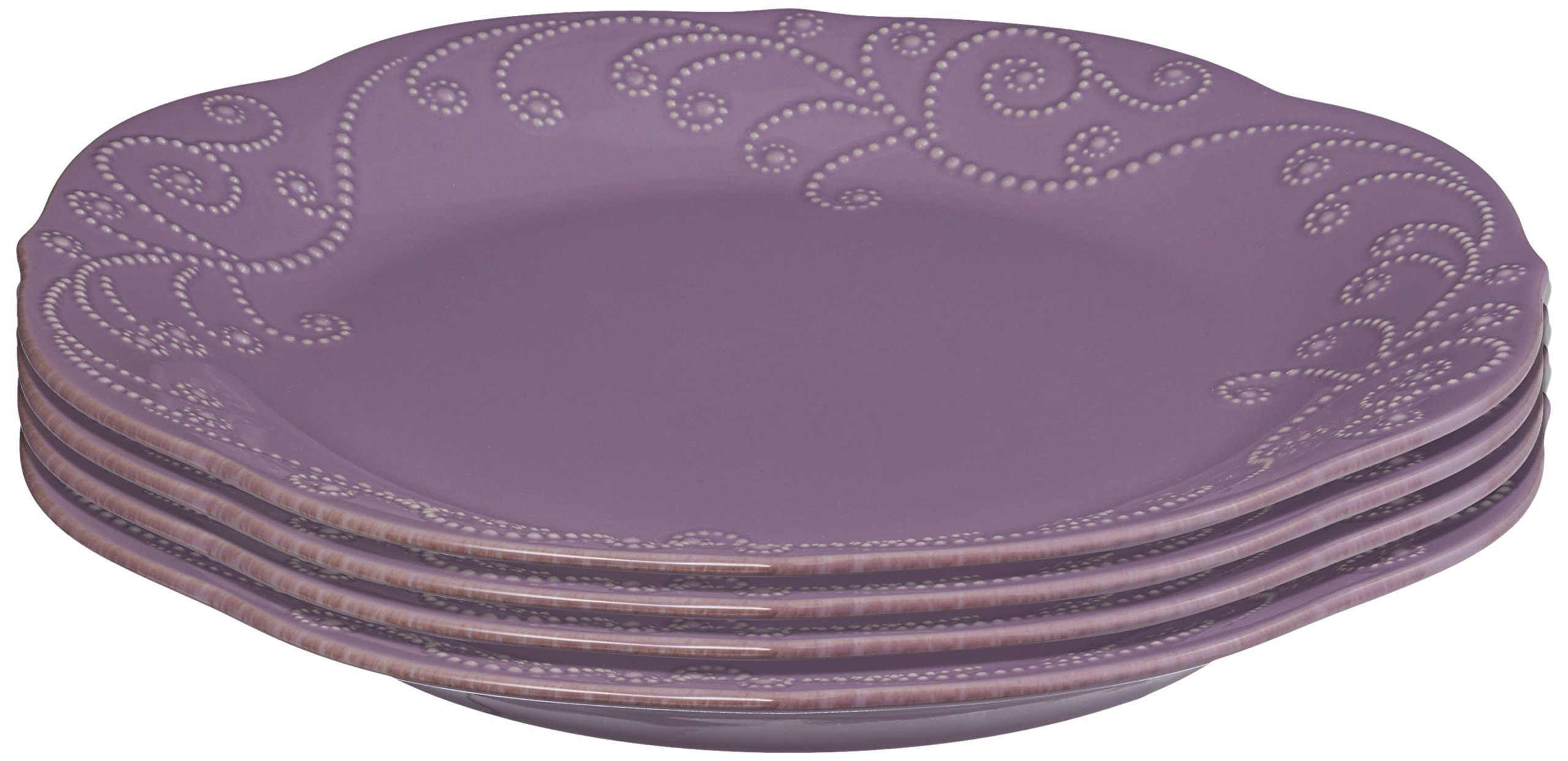 Lenox 843827 FRENCH PERLE VIOLET DW DINNER PLATE - Pack of 4