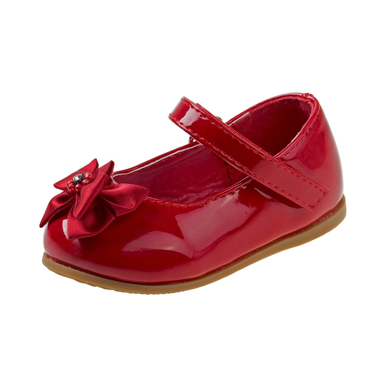 Josmo Girls Patent Dressy Shoe Bow (Infant, Toddler)