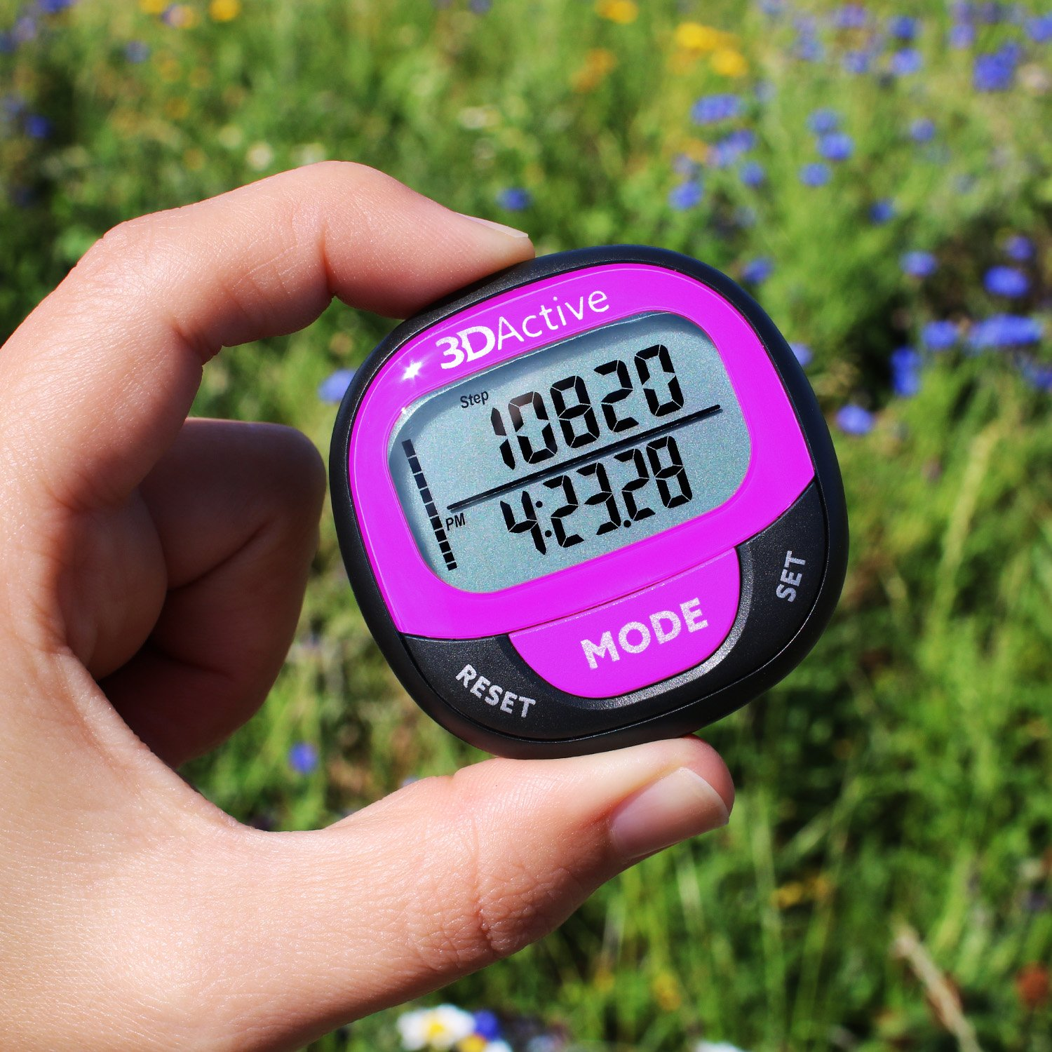 Accurate Step Counter Distance Miles//Km /& Daily Target Monitor. Calorie Counter 3DActive 3D Pedometer PDA-100  Best Pedometer for Walking with 30-Days Memory