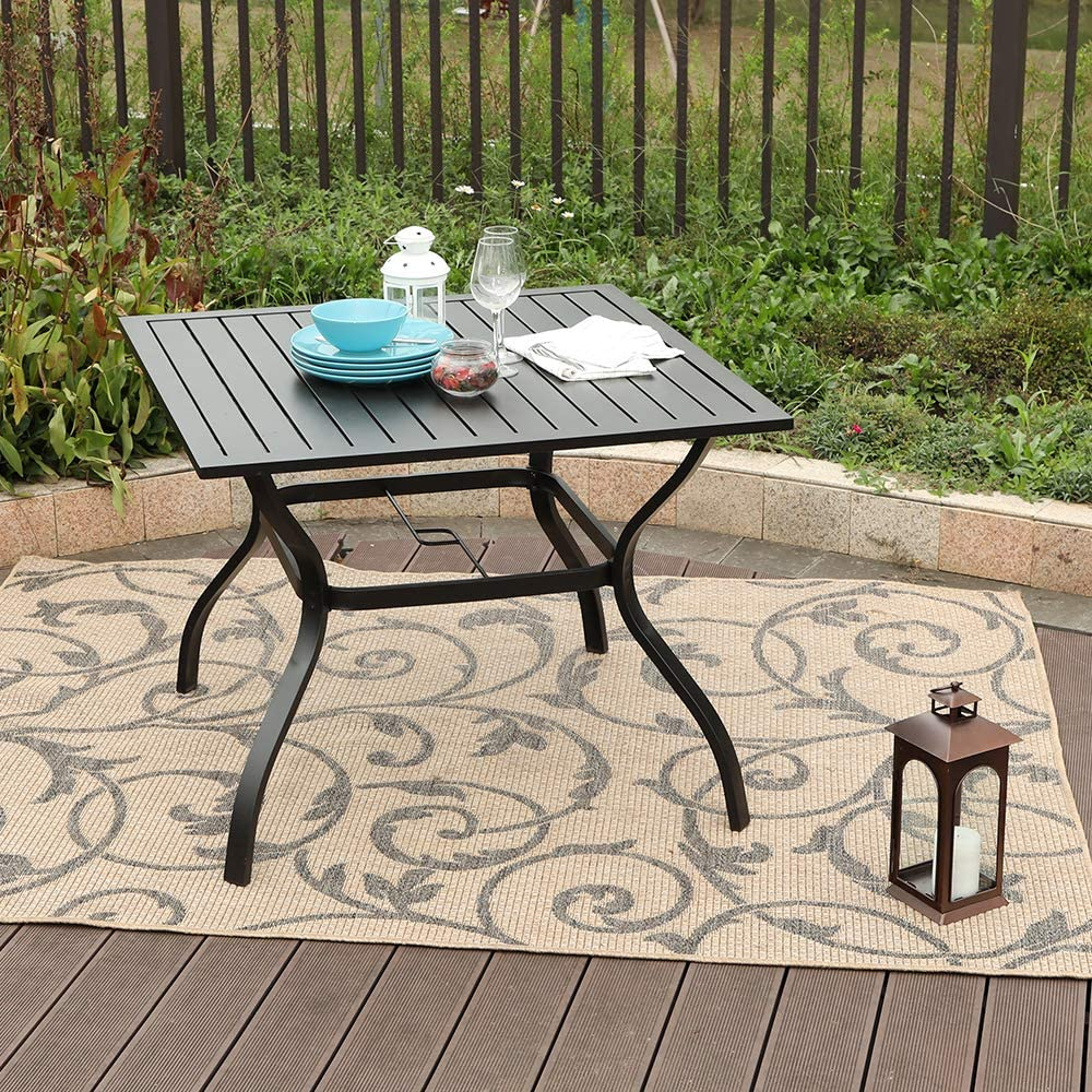 Dining Tables Ulax Furniture Outdoor Patio Dining Table Slatted ...