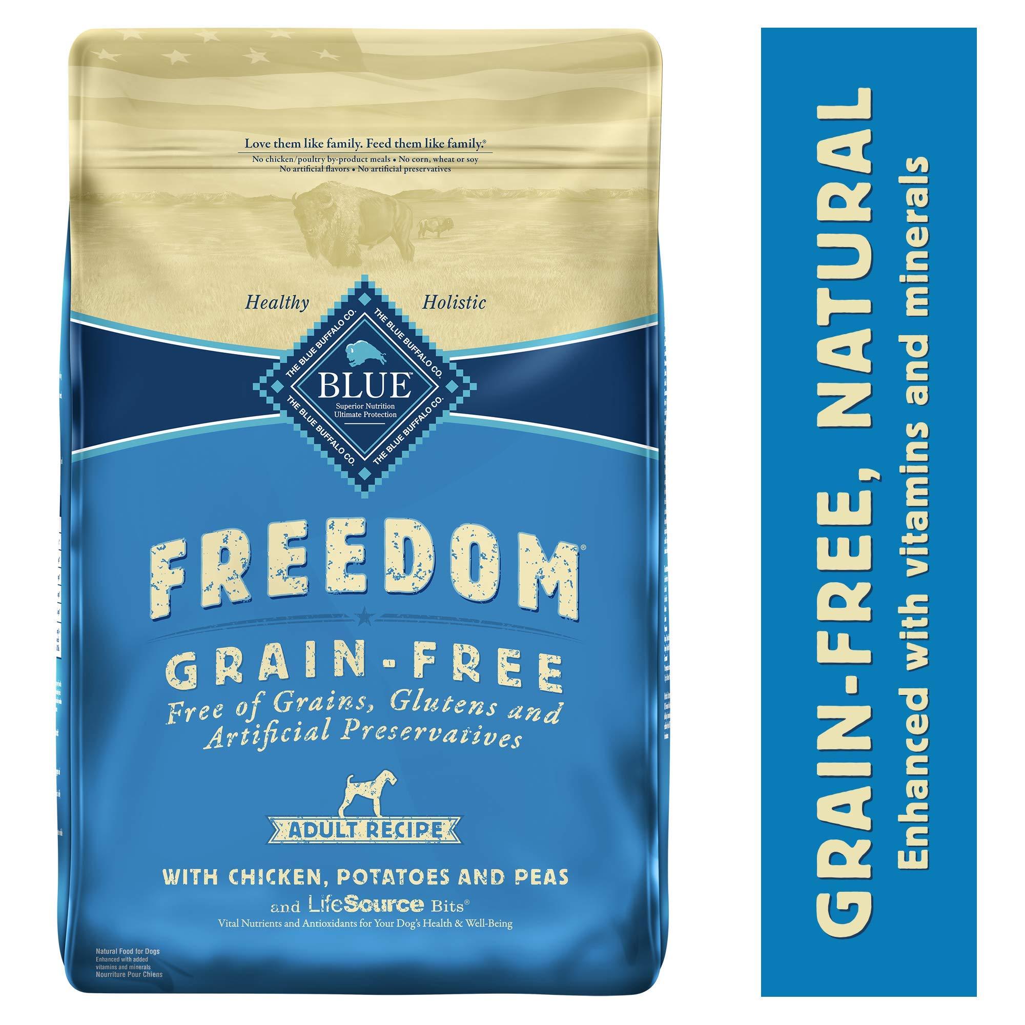 Blue Buffalo Freedom Grain Free Natural Adult Dry Dog Food, Chicken 24-lb by Blue Buffalo