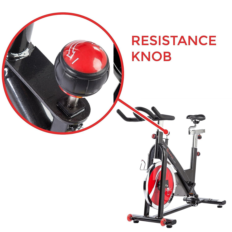Sunny Health /& Fitness SF-B1002 49lb Flywheel Belt Drive Indoor Cycle Bike