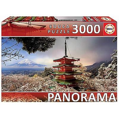 Educa 3000pc Panorama Puzzle Mount Fuji and Chureito Pagoda: Toys & Games