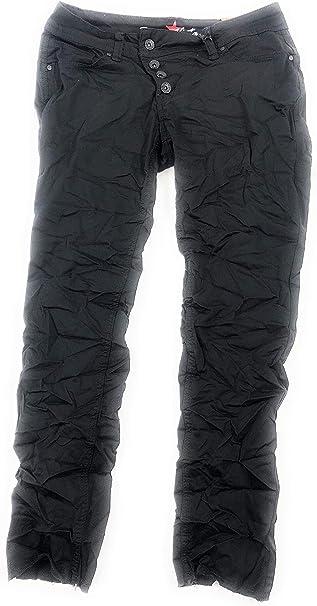 Buena Vista Damen Jeanshose Italy Super-Stretch 5-Pocket Tiefschwarz