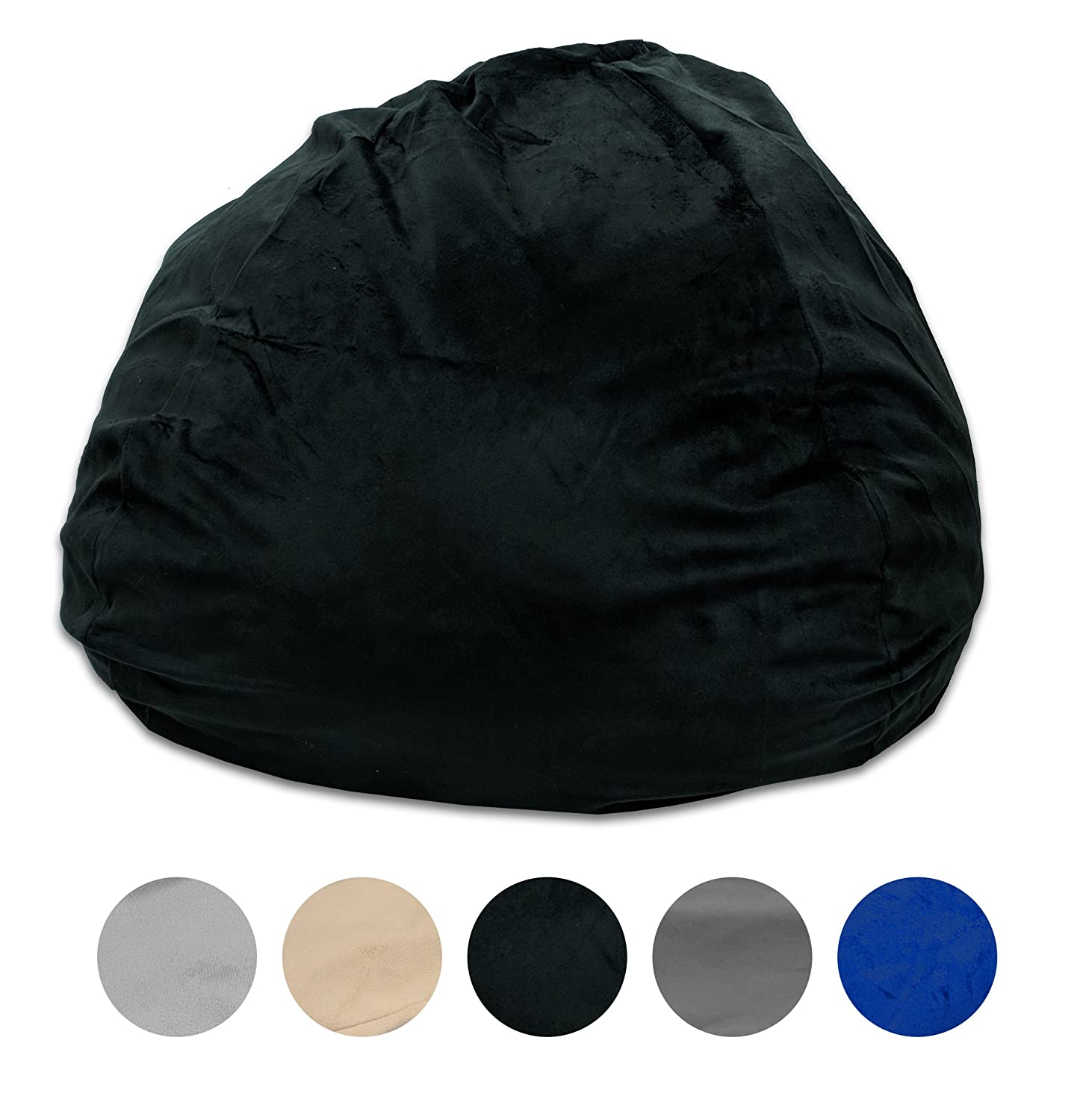 Pillowtex Quality Kids Memory Foam Bean Bag with Washable Removable Cover – 3ft (Ash)