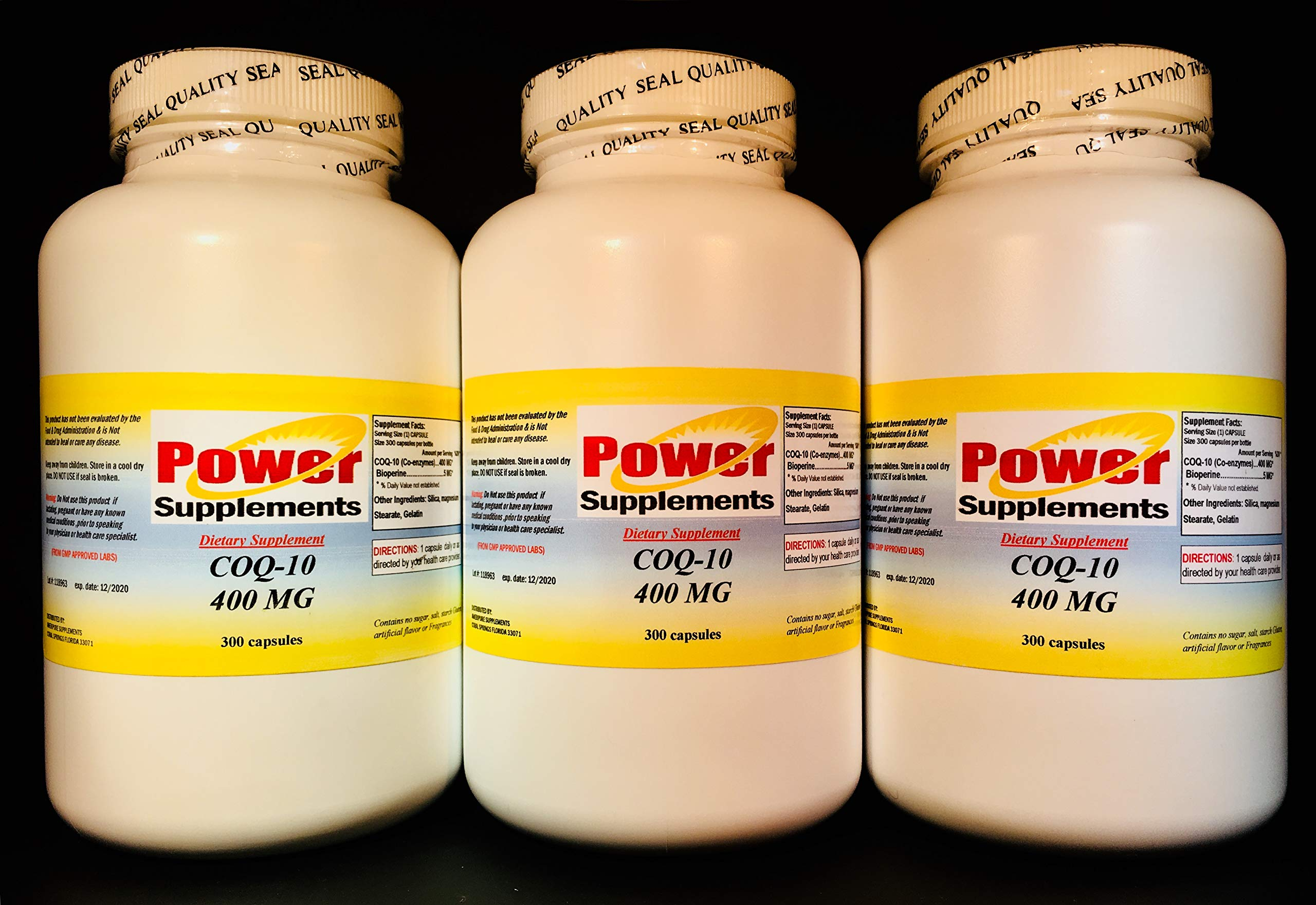 CoQ-10 q10 co-Enzyme, Anti-Aging 400mg - 900 (3x300) Capsules